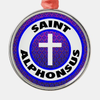 Saint Alphonsus Silver-Colored Round Decoration