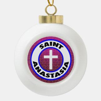 Saint Anastasia Ceramic Ball Christmas Ornament