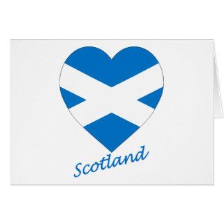 Saint Andrew Cross Flag Heart (Scotland) Greeting Card