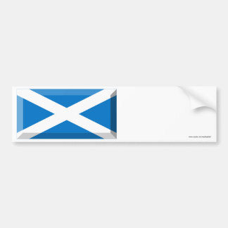 Saint Andrew Flag of Scotland Jewel Bumper Sticker