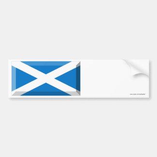 Saint Andrew Flag of Scotland Jewel Bumper Sticker