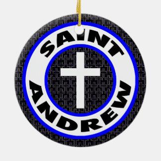 Saint Andrew Round Ceramic Decoration