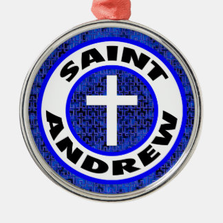 Saint Andrew Silver-Colored Round Decoration