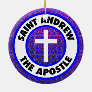 Saint Andrew the Apostle Round Ceramic Decoration