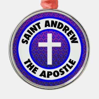 Saint Andrew the Apostle Silver-Colored Round Decoration
