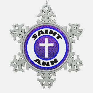 Saint Ann Pewter Snowflake Decoration