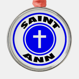 Saint Ann Silver-Colored Round Decoration