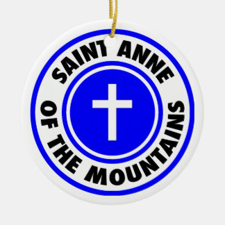 Saint Anne of the Mountains Round Ceramic Decoration