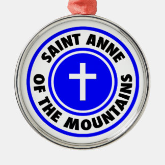 Saint Anne of the Mountains Silver-Colored Round Decoration