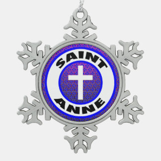 Saint Anne Pewter Snowflake Decoration