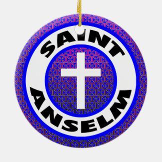 Saint Anselm Round Ceramic Decoration