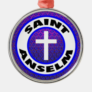 Saint Anselm Silver-Colored Round Decoration