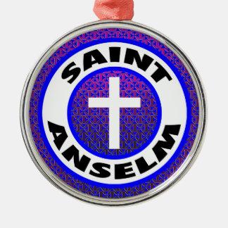 Saint Anselm Silver-Colored Round Decoration