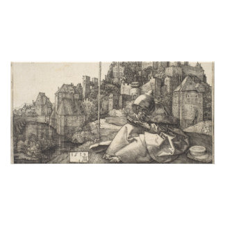 Saint Anthony Engraving by Albrecht Durer Photo Cards