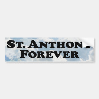 Saint Anthony Forever - Basic Bumper Sticker