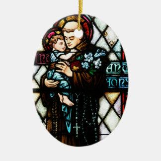 Saint Anthony of Padua Holding a Child Christmas Ornament