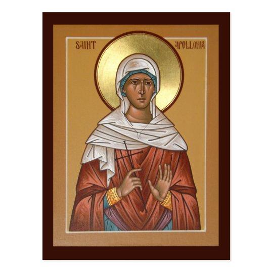 Saint Apollonia Prayer Card