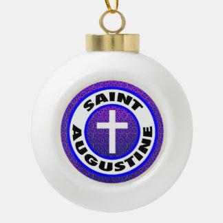 Saint Augustine Ceramic Ball Decoration