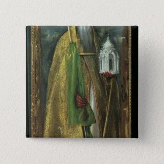 Saint Augustine of Hippo  1590 15 Cm Square Badge