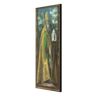 Saint Augustine of Hippo  1590 Canvas Print