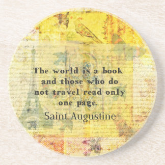 Saint Augustine Quote about Travel Coasters