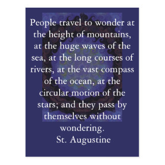 Saint Augustine travel adventure quote Postcard