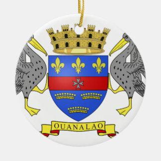Saint Barthelemy Christmas Ornament