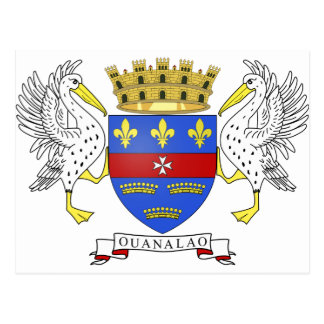 Saint Barthelemy Coat of Arms Postcard