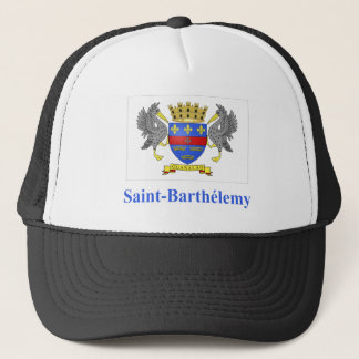 Saint Barthelemy Flag with Name in French Trucker Hat