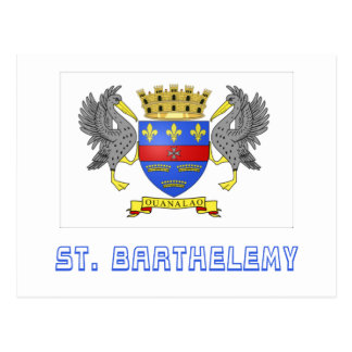 Saint Barthelemy Flag with Name Postcards