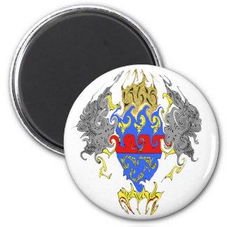 Saint Barthelemy Gnarly Flag 6 Cm Round Magnet