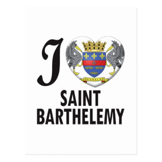 Saint Barthelemy Love Post Cards