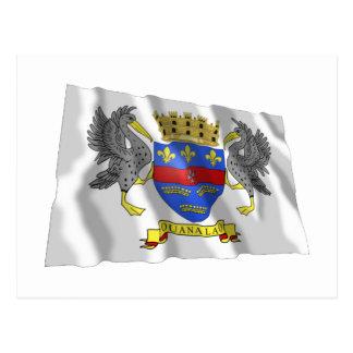 Saint Barthelemy Waving Flag Postcard