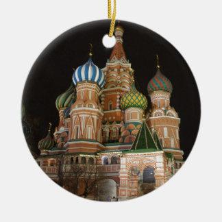 Saint Basil's Cathedral 2 Round Ceramic Decoration