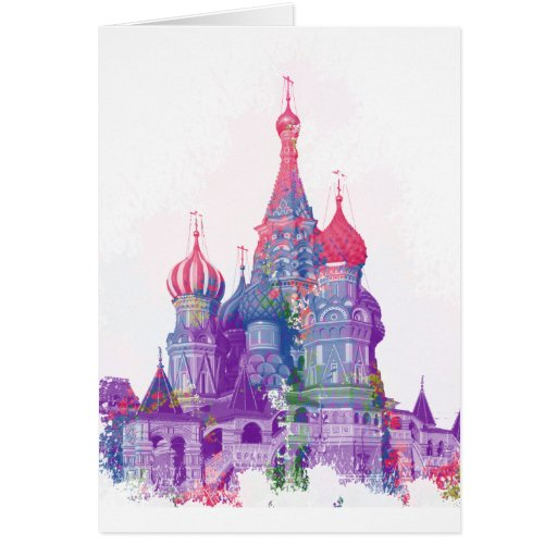 Saint Basil's Cathedral Moscow Greeting Cards
