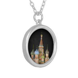 Saint Basil's Cathedral Round Pendant Necklace