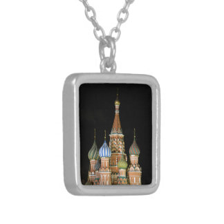 Saint Basil's Cathedral Square Pendant Necklace