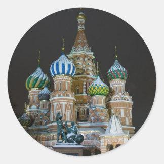 saint basil's night classic round sticker