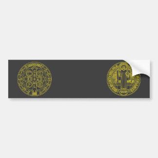 Saint Benedict Cross Medal both sides Car Bumper Sticker