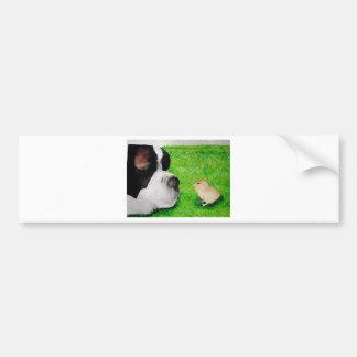 Saint Bernard and Baby Chick Bumper Sticker