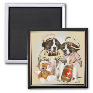 Saint Bernard Angel Baby magnet
