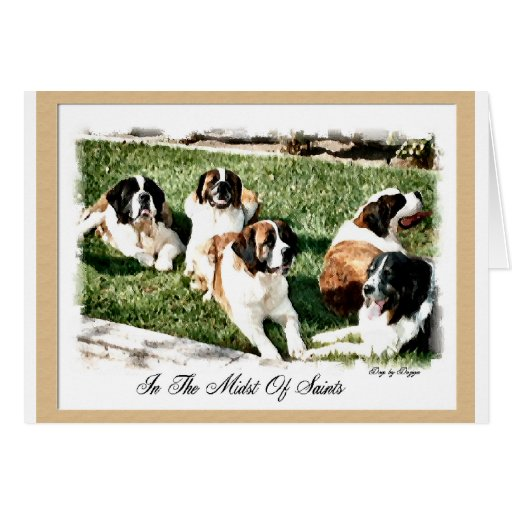 St Bernard Christmas Cards If you can not respond to each person individually, trying to figure out a gift that would benefit all and purchase the item in bulk. Gifts of .