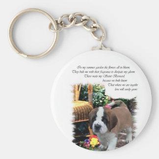 Saint Bernard Art Gifts Key Chain