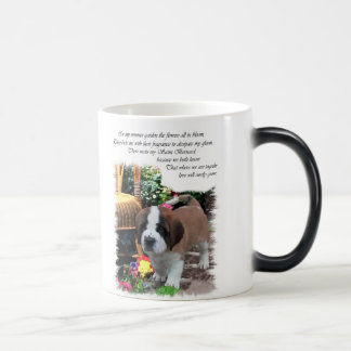 Saint Bernard Art Gifts Magic Mug