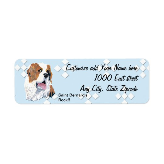 Saint Bernard - Blue w/ White Diamond Design
