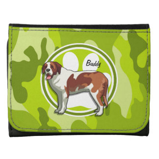 Saint Bernard bright green camo camouflage Wallet