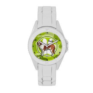 Saint Bernard bright green camo camouflage Watches