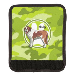 Saint Bernard bright green camo camouflage Luggage Handle Wrap