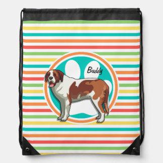 Saint Bernard Bright Rainbow Stripes Backpack