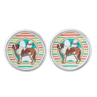 Saint Bernard Bright Rainbow Stripes Cufflinks